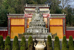 Wise Master stone statue Stock Images
