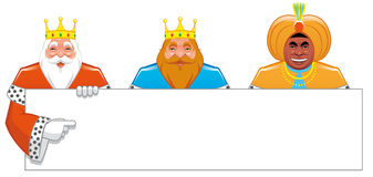 Wise men with blank sign Stock Photography