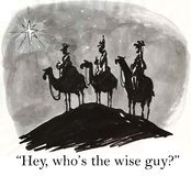 The wise men are the wise guys Royalty Free Stock Photo