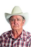 Wise old cowboy Stock Photo