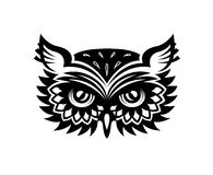Wise old horned owl head Royalty Free Stock Photography