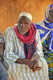 Wise old man. Meeting with representatives of Naam muvement in Burkina faso Stock Images