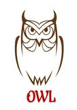 Wise old owl sketch Royalty Free Stock Photos