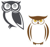 Wise ow. A two owls  logo Stock Images