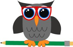 A wise owl Royalty Free Stock Image