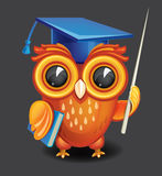 Wise owl in graduation cap Stock Photo