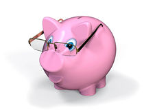 Wise Piggy bank Royalty Free Stock Image