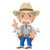 Wise Sheriff, cartoon character in Wild West Stock Images