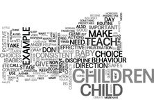 Wise Ways To Discipline Word Cloud Royalty Free Stock Images