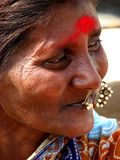 Wise Woman. An old Indian woman looks wise Royalty Free Stock Photography