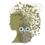 Wise woman nature concept Royalty Free Stock Photo