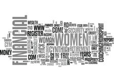 Wise Women Money Quiz How Money Wise Are You Word Cloud Stock Photo