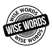 Wise Words rubber stamp Stock Image