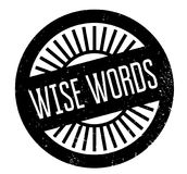 Wise Words rubber stamp. Grunge design with dust scratches. Effects can be easily removed for a clean, crisp look. Color is easily changed Royalty Free Stock Image