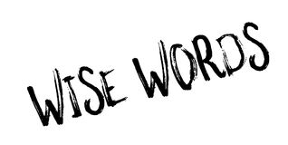 Wise Words rubber stamp Stock Images