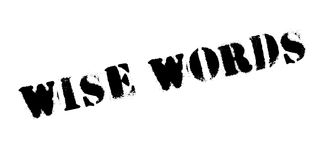 Wise Words rubber stamp Royalty Free Stock Photography