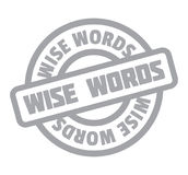 Wise Words rubber stamp Stock Photography