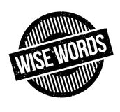Wise Words rubber stamp Stock Photos