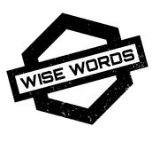 Wise Words rubber stamp Royalty Free Stock Photos