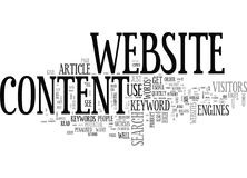 Wise Words On Website Content Word Cloud stock illustration