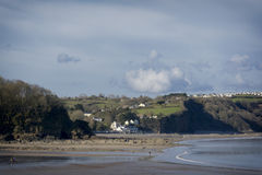 Wisemans Bridge Saunderfoot Harbour and beach South Wales Pembrokeshire Royalty Free Stock Photos