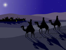 Wisemen at Bethlehem Stock Images