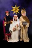 Wisemen de Noël de chant Photographie stock libre de droits