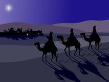 Wisemen em Bethlehem Imagens de Stock