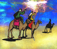 Wisemen Follow the Christmas Star Stock Images