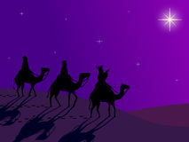Wisemen following the Star Royalty Free Stock Photo