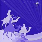 Wisemen silhouette Royalty Free Stock Photos