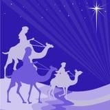 Wisemen silhouette Royalty Free Stock Photos