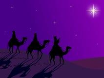 Wisemen suivant l'étoile