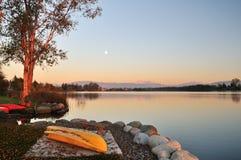 Wiser lake and mount Baker Royalty Free Stock Photos