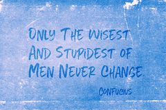 Never change Confucius Royalty Free Stock Images