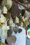 Wish bells and hearts in Buddha temple. Phuket, Thailand Royalty Free Stock Image