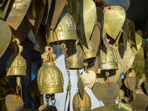 Wish bells and hearts in Buddha temple. Phuket, Thailand Royalty Free Stock Photo