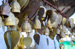 Wish bells and hearts in Buddha temple. Phuket, Thailand Royalty Free Stock Photography