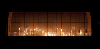 Wish Candles in Church Royalty Free Stock Photos