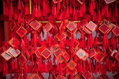 Wish cards in a Buddhist temple in Beijing Royalty Free Stock Photo