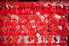 Wish cards in a Buddhist temple in Beijing Royalty Free Stock Images
