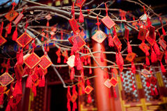 Wish cards in a Buddhist temple in Beijing Royalty Free Stock Image