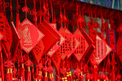 Wish cards hanging in a Buddhist temple in China Stock Image