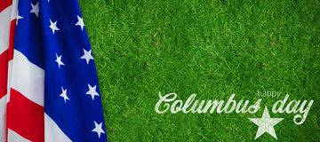 Composite image of wish for colombus day. Wish for colombus day  against closed up view of grass Stock Photos