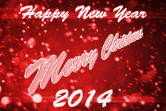Wish everyone happy new year and merry christmas. Wish everyone happy 2014 year and merry christmas Royalty Free Stock Image