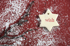 Wish gift tag Stock Photography