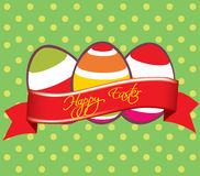 Wish happy easter Stock Photography