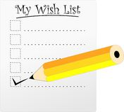 Wish List Royalty Free Stock Photos