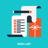 Wish list. Abstract vector illustration of wish list flat design concept royalty free illustration