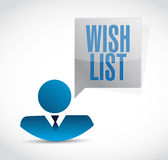 Wish list avatar sign concept illustration Royalty Free Stock Image
